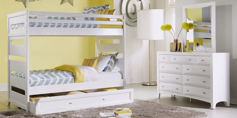 Ivy League White Twin/Twin Bunk Bed