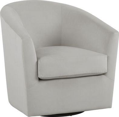 Jacey Platinum Accent Swivel Chair