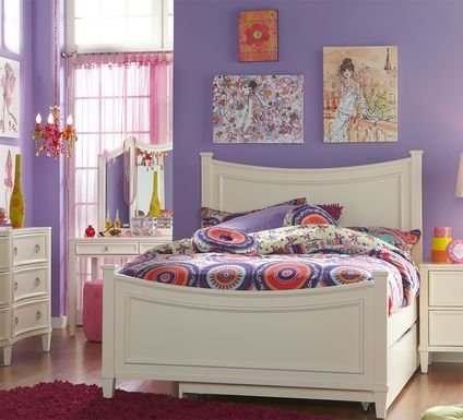 Kids Jaclyn Place Ivory 5 Pc Full Panel Bedroom