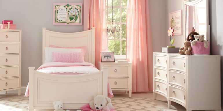 Kids Jaclyn Place Ivory 5 Pc Twin Panel Bedroom
