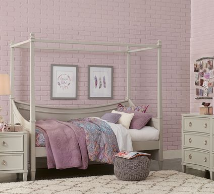 Jaclyn Place Gray 6 Pc Canopy Daybed Bedroom