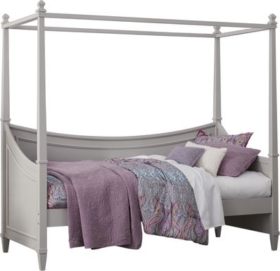 Jaclyn Place Gray 4 Pc Canopy Daybed