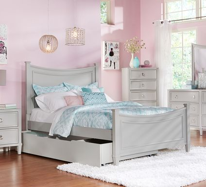 Kids Jaclyn Place Gray 5 Pc Twin Panel Bedroom