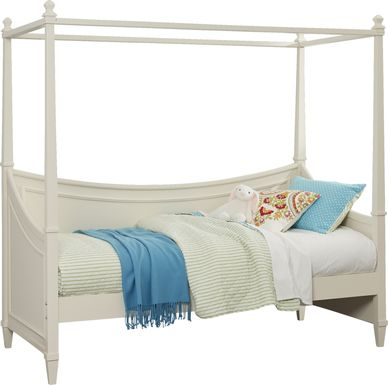 Jaclyn Place Ivory 4 Pc Canopy Daybed