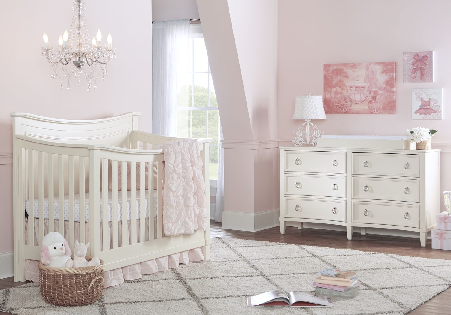 Jaclyn Place Ivory 4 Pc Nursery