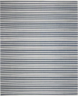 Jalia Blue 8' x 10' Indoor/Outdoor Rug