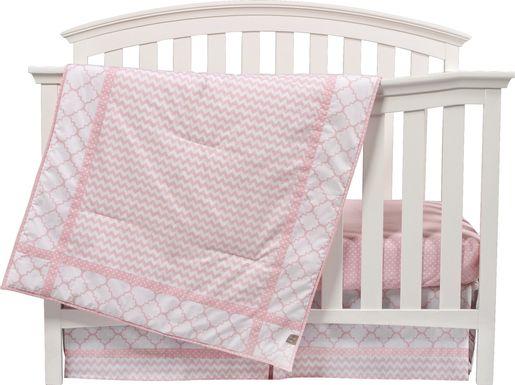 Jamey Pink 3 Pc Baby Bedding Set
