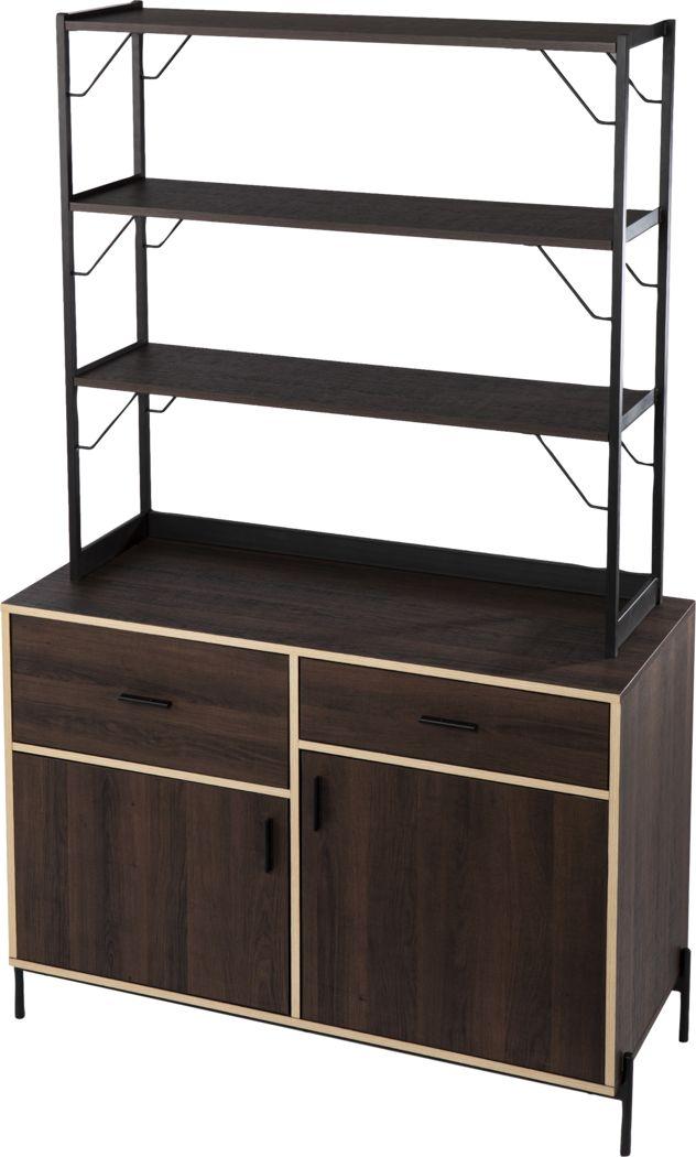 Janabyrd Brown Bar Cabinet