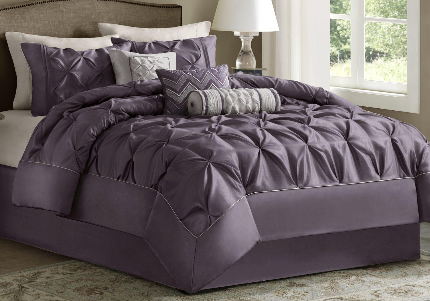 Janelle Plum 7 Pc King Comforter Set