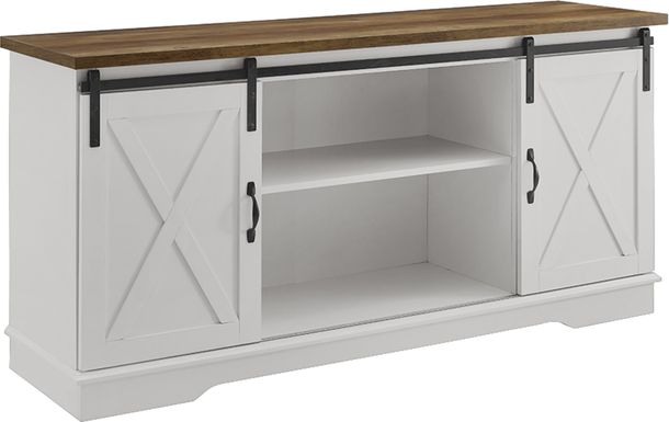 Coneflower White 58 in. Console