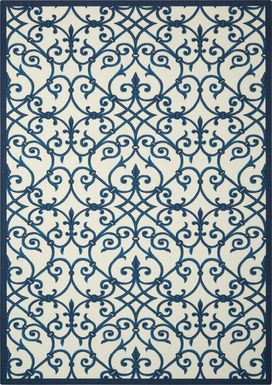 Jarrel Blue 5' x 8' Indoor/Outdoor Rug