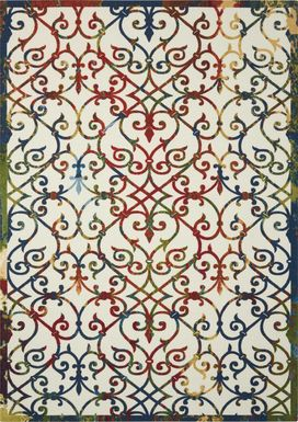 Jarrel Multi 5' x 8' Indoor/Outdoor Rug