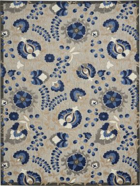 Jaziel Blue 8' x 11' Indoor/Outdoor Rug