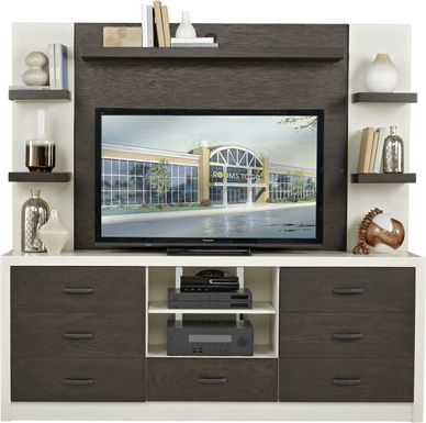 Jeana II Off-White 2 Pc Wall Unit