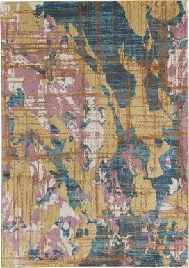 CosmoLiving By Cosmopolitan Jeanette Gold 8' x 10' Rug