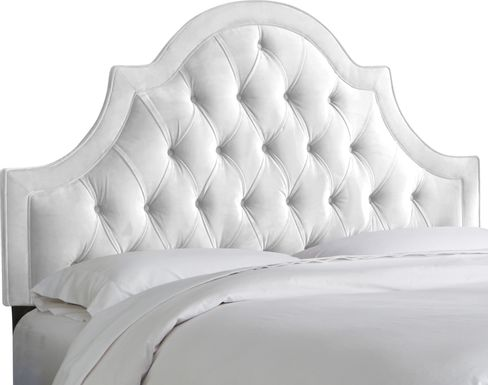 Jenessa White King Upholstered Headboard