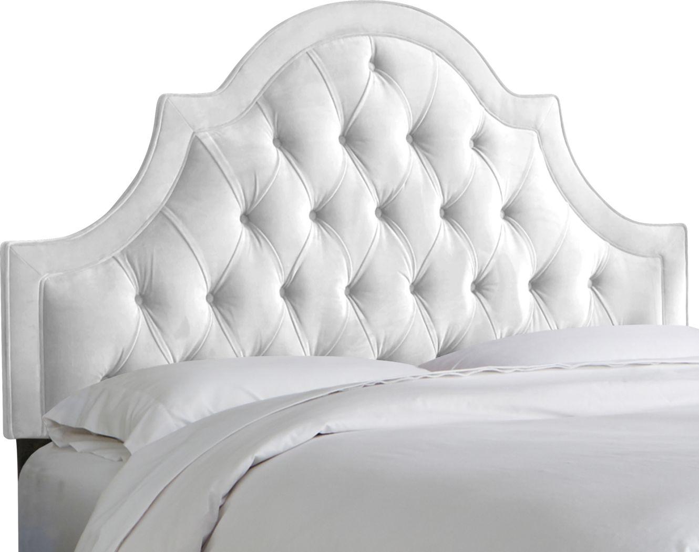 Jenessa White Queen Upholstered Headboard