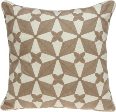 Jentzie Beige Accent Pillow