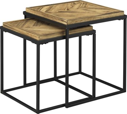 Jernigan Brown Nesting Tables, Set of 2