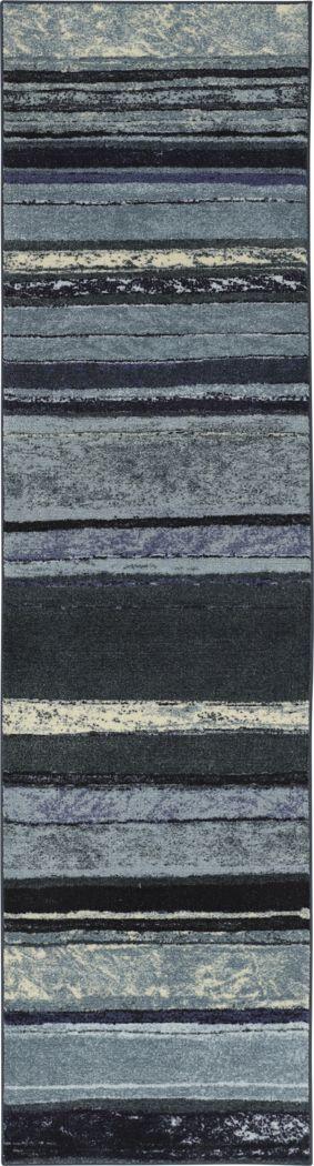 Jezriel Blue 2' x 8' Runner Rug
