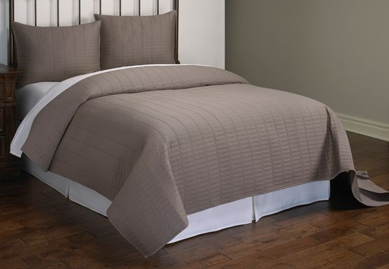 Jillianne Gray 3 Pc King Coverlet Set