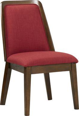 Jilly Burgundy Side Chair
