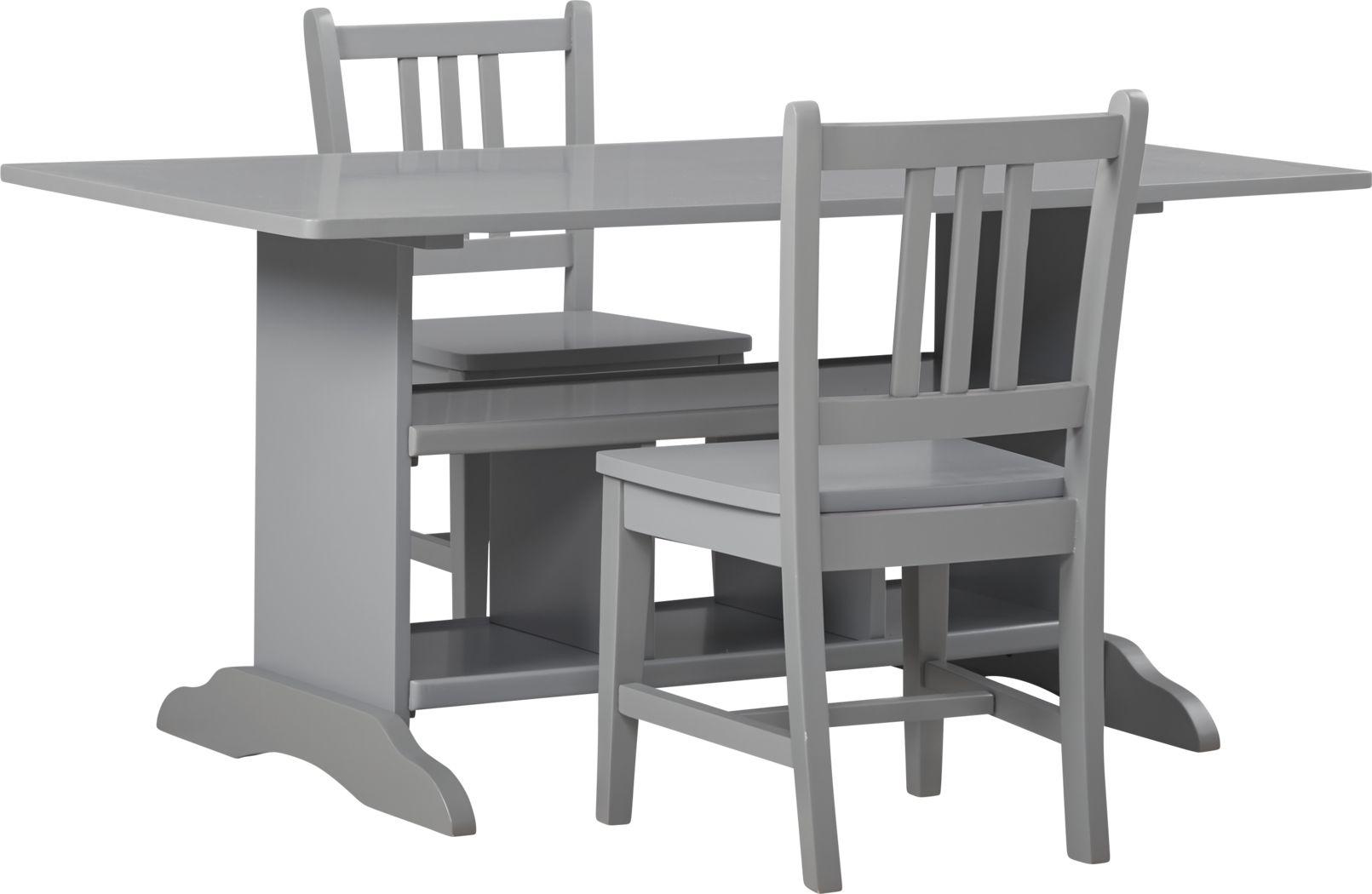 Kids Jo Jo Gray 3 Pc Storage Table Set