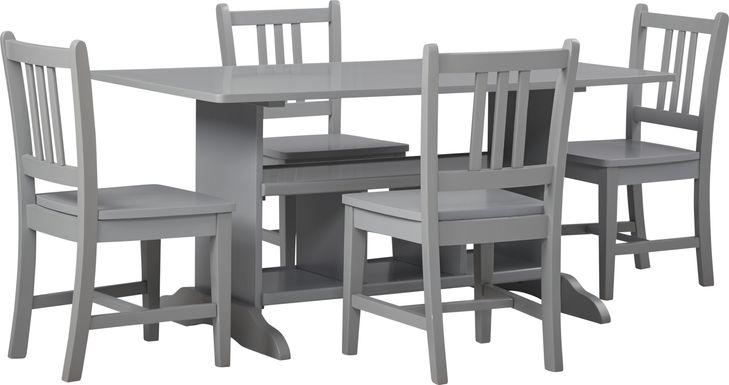 Kids Jo Jo Gray 5 Pc Storage Table Set