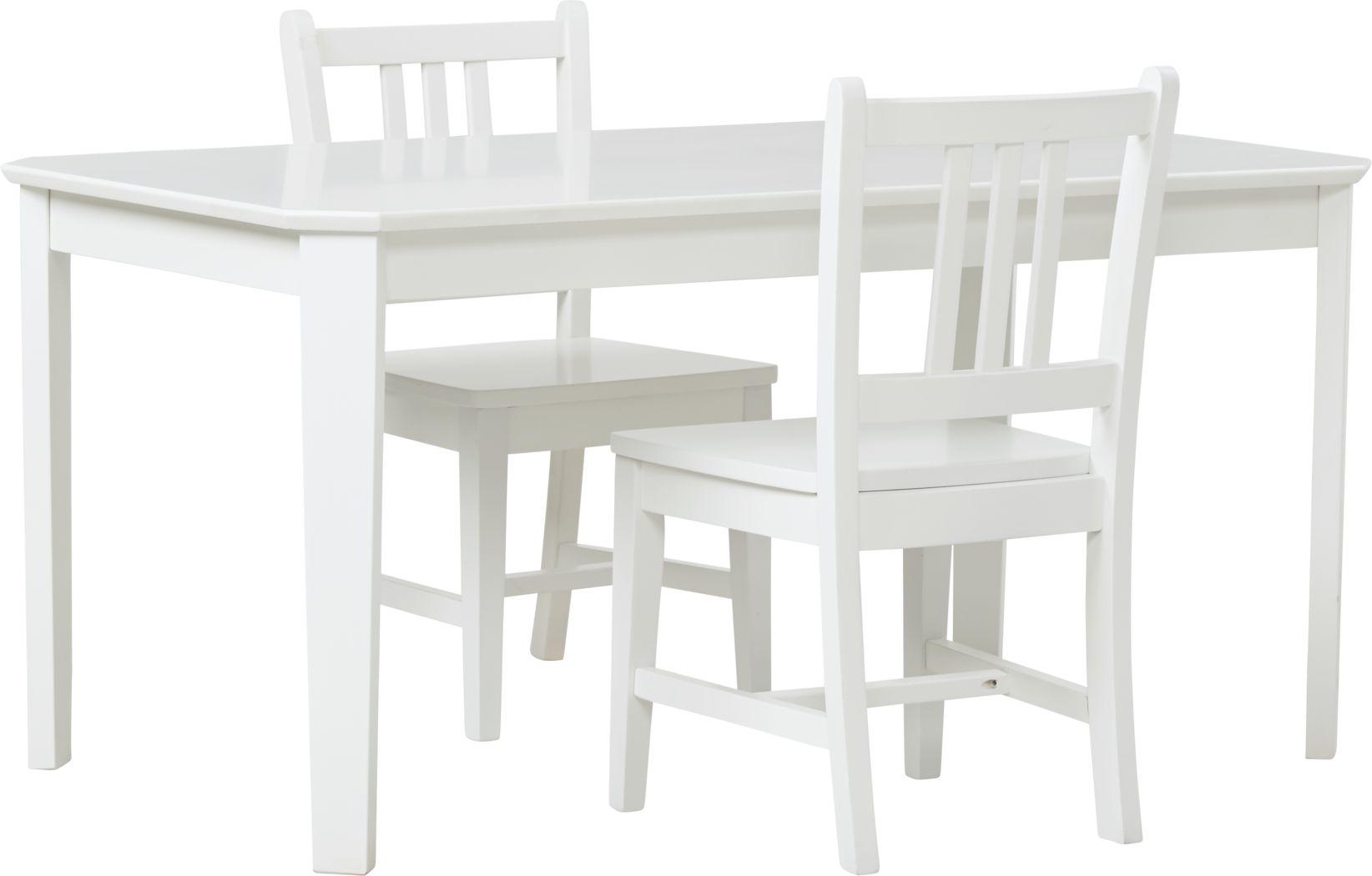 Kids Jo Jo White 3 Pc Table Set
