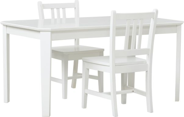 Kids Jo Jo White 3 Pc Table Set