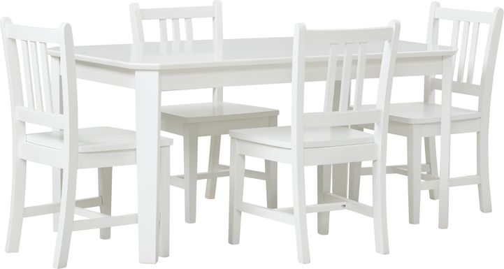 Kids Jo Jo White 5 Pc Table Set