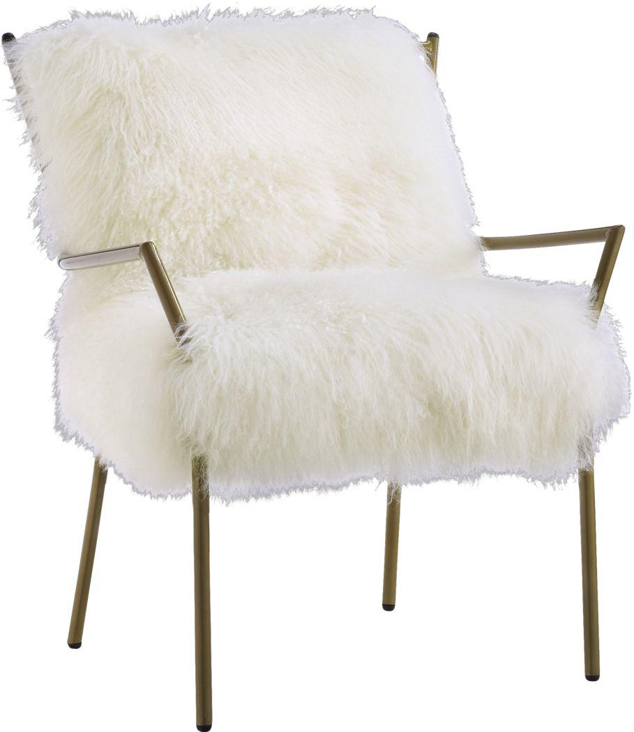 Jonna White Accent Chair