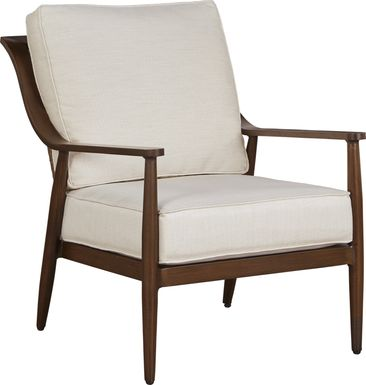 Jorgen Bronze Outdoor Arm Chair with Vanilla Cushions