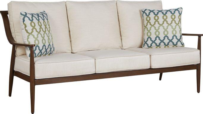 Jorgen Bronze Outdoor Sofa with Vanilla Cushions