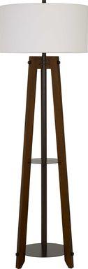 Josam Walnut Floor Lamp