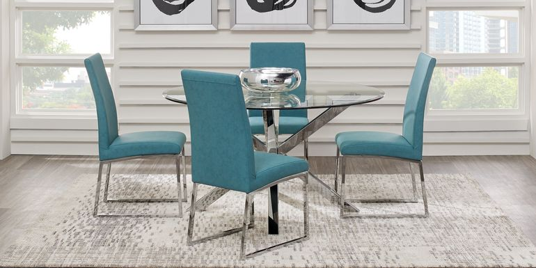 Jules Gray 5 Pc Dining Set with Ocean Chairs