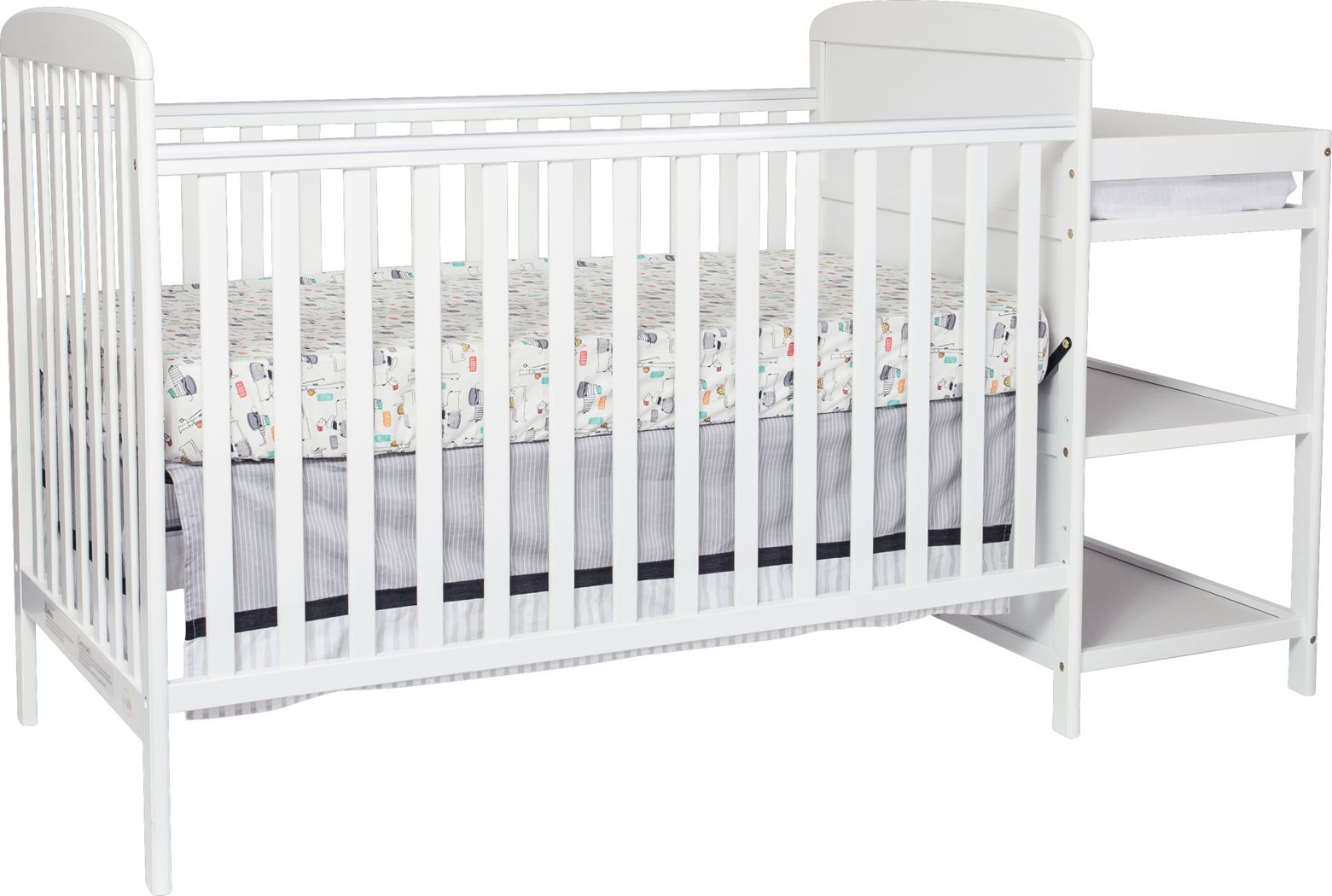Julian Park White Crib and Changer
