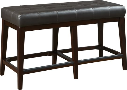 Julian Place Chocolate Counter Height Bench
