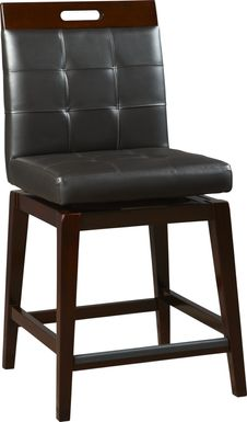 Julian Place Chocolate Counter Height Stool