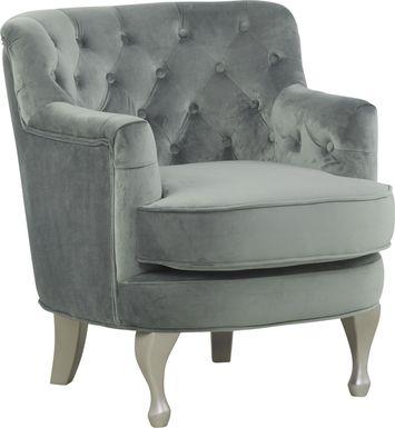 Kids Julietta Charcoal Tufted Chair