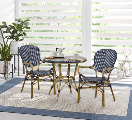 Juliette Blue 3 Pc Outdoor Dining Set