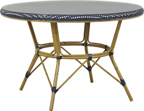 Juliette Blue 47 in. Round Outdoor Dining Table