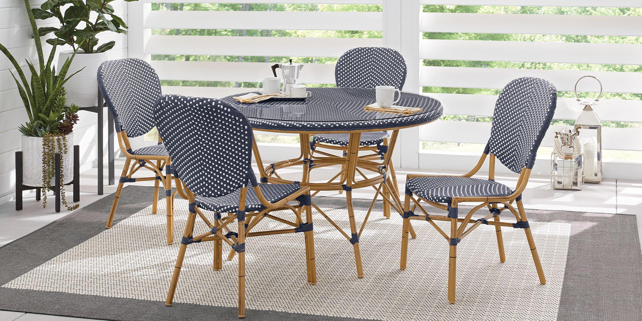 Juliette Blue 5 Pc Outdoor Dining Set