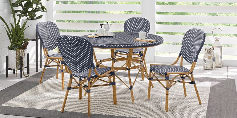 Juliette Blue 5 Pc Outdoor Dining Set