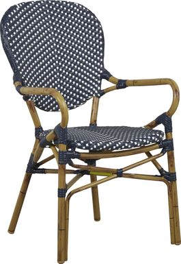 Juliette Blue Outdoor High Back Arm Chair