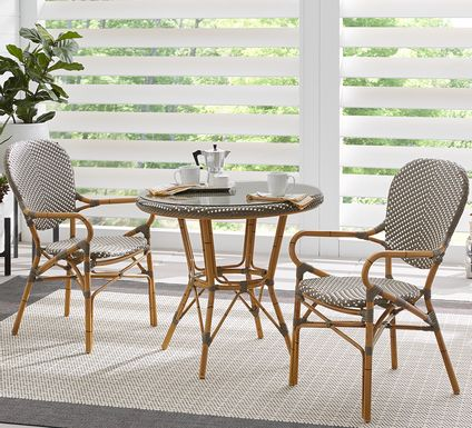 Juliette Gray 3 Pc Outdoor Dining Set