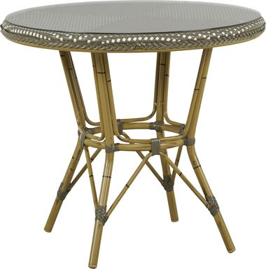Juliette Gray 33 in. Round Outdoor Dining Table