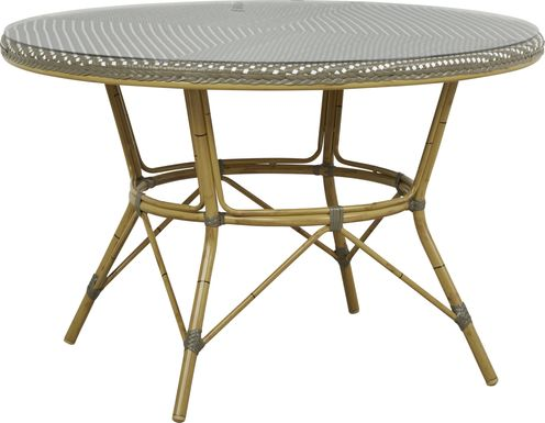 Juliette Gray 47 in. Round Outdoor Dining Table