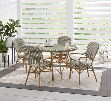 Juliette Gray 5 Pc Outdoor Dining Set