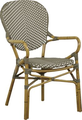 Juliette Gray Outdoor High Back Arm Chair